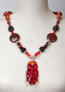 Aztec Amber Necklace  by Christina Jarmolinski