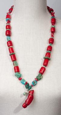Tibetan Antique Corals and Turquoise Spirit by Christina Jarmolinski