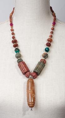 Hand Carved Carnelian Pendant by Christina Jarmolinski