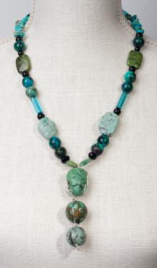 Friendship Necklace with Turquoise by Christina Jarmolinski