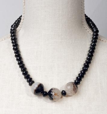 Black and White Agate Sophistication -  Chocker by Christina Jarmolinski