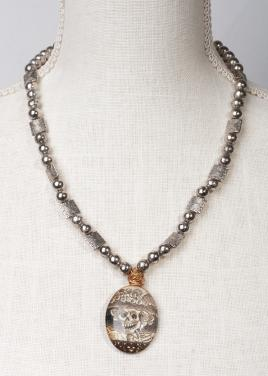 Dia de Muertos Pendant necklace by Christina Jarmolinski