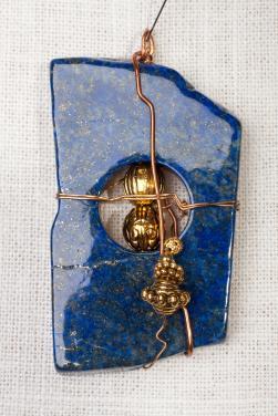 Lapis Lazuli Pendant by Christina Jarmolinski