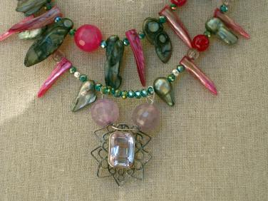 """Iolite Pendant and facetted Beads """"ART JEWELRY""""by Christina Jarmolinski"""