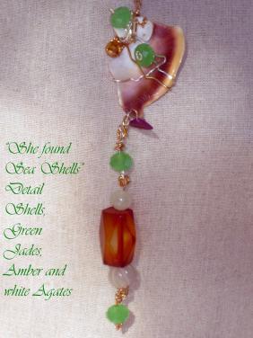 "She Found Sea  Shell- ""Art Jewelry"" by Christina Jarmolinski"