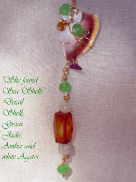 "She Found Sea  Shell- ""Art Jewelry"" by Christina Jarmolinski"