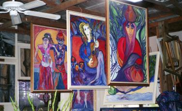 Christina Jarmolinski's Art Studio-Crystal Acres, Ft. Myers,Fl.