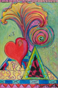 Art is where my Heart is I by Christina Jarmolinski