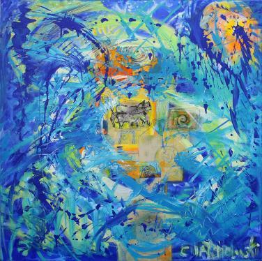 Wild Horses on Blue Island by Christina Jarmolinski