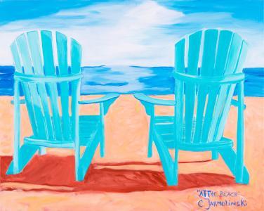 At the Beach by Christina Jarmolinski