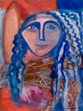 Mona Lisa - Blue Angel by Christina Jarmolinski