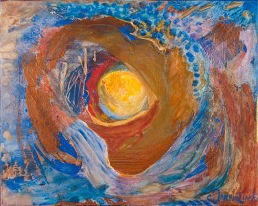 Fly Me to the Moon I by Christina Jarmolinski