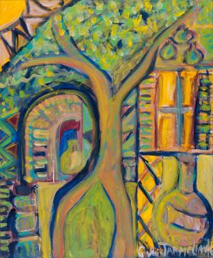 Springtime in the Provence' acrylic on canvas by Christina Jarmolinski