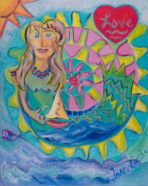 Funky Mermaid by Christina Jarmolinski