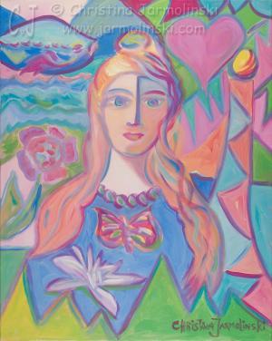 Girl with Butterfly by Christina Jarmolinski