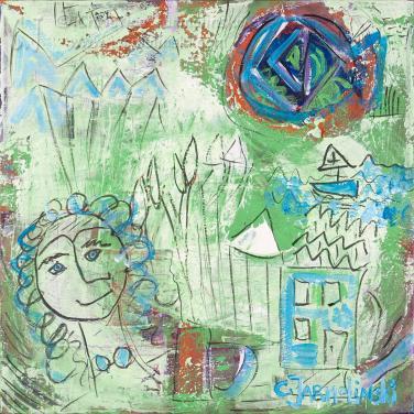 Happy in Green by Christina Jarmolinski