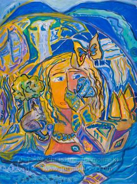 The Girl with Butterflies II by Christina Jarmolinski