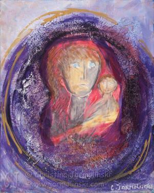 Madonna with Child by Christina Jarmolinski