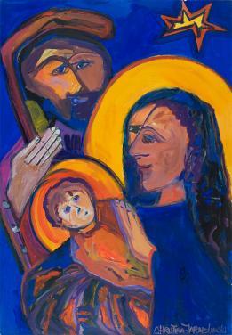 Nativity Scene by Christina Jarmolinski