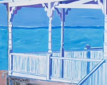 Ocean Porch View by Christina Jarmolinski