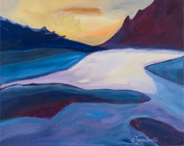 Mountain Lake by Christina Jarmolinski