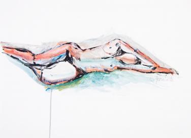 Resting Nude by Christina Jarmolinski