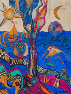 Homage to Dali and Klimt by Christina Jarmolinski
