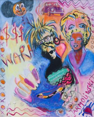 Andy Warhol and Marylin by Christina Jarmolinski