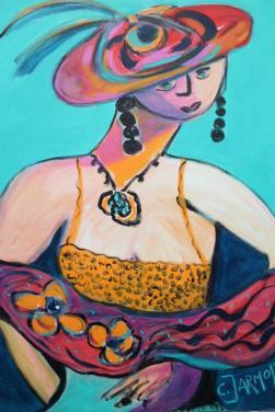 Frida Kahlo and her Sunhat by Christina Jarmolinski