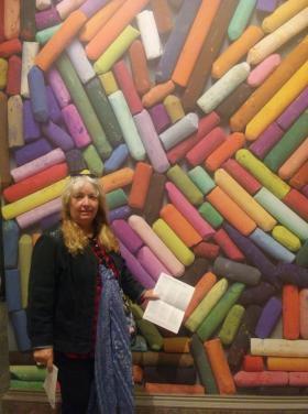 Pastels- Room showing pastel portraits