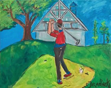 The Golfer - award winning by Christina Jarmolinski
