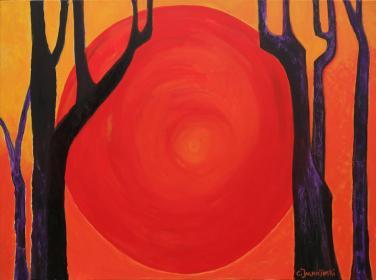 Sunset in the Forest - Zen Art  by Christina Jarmolinski