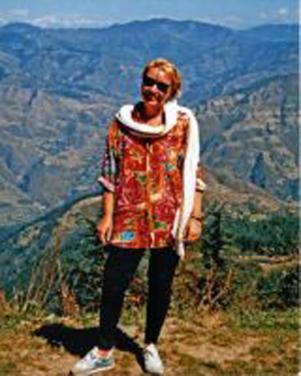 Christina in the Himalya in 1994