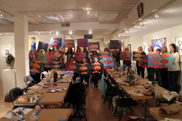 Sip and Paint Workshop- Mixed Media by Christina Jarmolinski