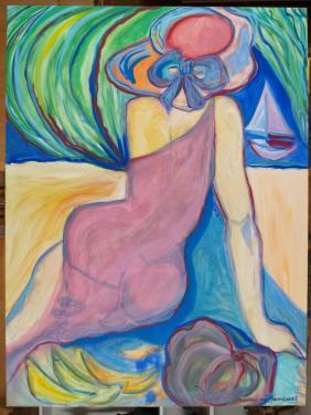 """Lady with Sunhat"" by Christina Jarmolinski"