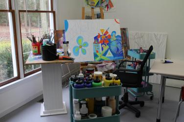 My newly renovated art studio! With Love, blood, sweat and tears it's finished!