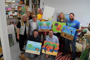 Sip and Paint in Christina Jarmolinski's newly renovated Art Studio