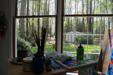 View out of my Studio Windows by Christina Jarmolinski