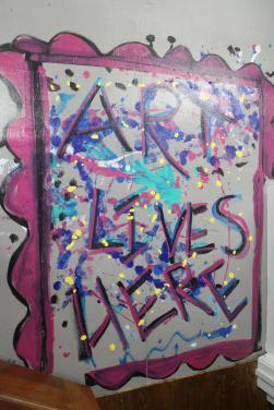Art Lives Here-floor painting
