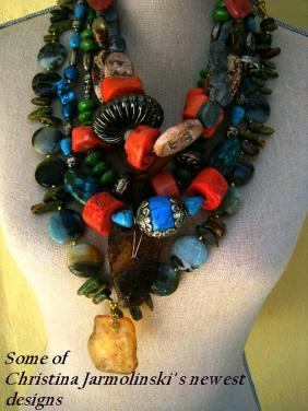 Some of my Newest Art Jewelry by Christina Jarmolinski