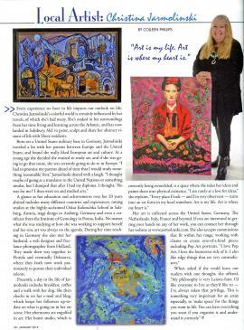 Christina Jarmolinski in the Metropolitan Magazine